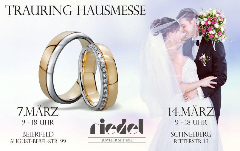 Trauring Hausmesse bei Juwelier Riedel am 7. und am 14. März 2020