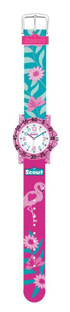 scout mädchenuhr flamingo